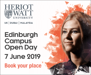 Open days at Heriot Watt University