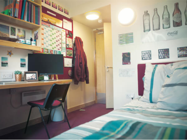 UEA Accommodation: Bedroom at Nelson Court